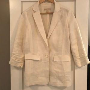 Michael Kors white linen blazer